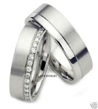 18K WHITE GOLD DIAMOND WEDDING RINGS SET, DIAMOND MATCHING WEDDING BANDS