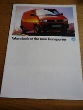 VOLKSWAGEN VW  TRANSPORTER Brochure  jm