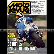 MOTO REVUE N°2506 MOTEUR SICCARDI  MOTOBECANE 80 ENDURO LANSAC 24 H DU MANS 1981