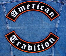 AMERICAN TRADITION Rockers Biker Motorcycle Patch by DIXIEFARMER in Old English