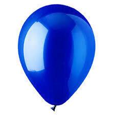 "12 CRYSTAL BLUE LATEX BALLOONS HELIUM GRADE 11"""