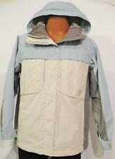 Worn 1X Kissmark Blue White Gray Hooded Snowboarding Ski Winter Coat Jacket XS