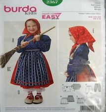Burda Child's Female Costume Sewing Patterns
