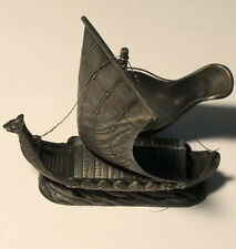 """Vintage Viking Ship Pipe Stand Holder Approx 4"""" Long, 3 1/2"""" High"""