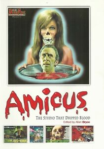 AMICUS THE STUDIO THAT DRIPPED BLOOD EDITED BY ALLAN BRYCE PAPERBACK NEAR MINT!