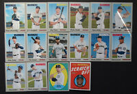 2019 Topps Heritage Seattle Mariners Master Team Set of 16 Baseball Cards