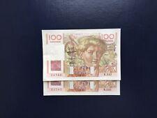 France Billet 100 Francs Jeune Paysan  05.06.1953 Suite De 2 Numéros