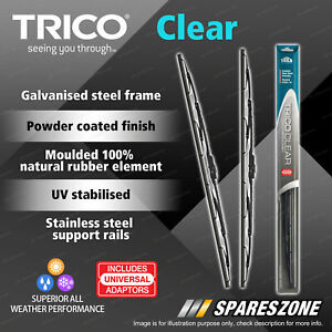 2 Trico Clear Wiper Blades for Volkswagen Amarok Caravelle Multi Van Transporter