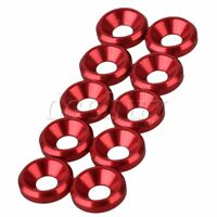 10pcs M3 Anodized Aluminium Countersink Washer Red For On Off Road Drift Car