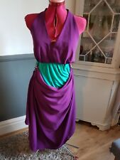 dress bohemia couture purple and turquoise small to medium new