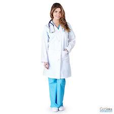 Unisex Men/Women Medical Doctor Nursing Jacket Long White Lab Coat XS-5XL
