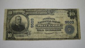 $10 1902 Point Marion Pennsylvania PA National Currency Bank Note Bill Ch. #9503