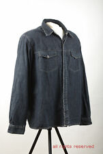 P532/35 Burton Long Sleeved Blue Cotton Denim Shirt, XL Chest 44-46 Euro 54-56