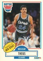 Reggie Theus 1990-91 Fleer Basketball Card #136 New Jersey Nets 90s Vintage
