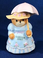 """Lucy & Me Bears ~ Easter 1987 Bear with Umbrella 3"""" April Showers (1986 Actual)"""