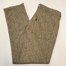 Levis 6 Mid Rise Skinny Brown Print Stretch Womens Crop Jeans 28 x 26.5