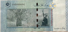 RM50 Zeti sign Low Number Note GG 0000654