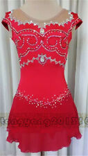 Red New  Ice Skating Dress Girl's Figure Skating Dress for competition
