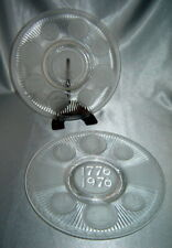 Lot (2) Imperial Hand Crafted Glass by Lenox Bicentennial Textured Coin Plates