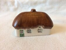 Irish Dresden Ireland Thatched Roof Cottage Miniature Porcelain Hand Painted
