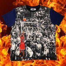 Post Game Apparel Michael Jordan The Last Shot All Over Print T-Shirt Size 2XL