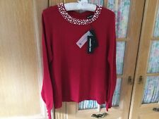 KARL LAGERFELD Ladies Jumper size M (14/16) In Red BNWT Ideal For Party Season