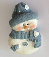 Snowman Cute Blue Scarf Christmas Pin Badge Brooch Retro Original Gift (N18)