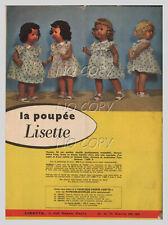 1957 DOCUMENT (ref Sil 49)  POUPéE LISETTE  1 page