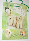 Wheaten Terriers Gift Bag Present Tag Handles Medium Green Dogs Soft Coated New