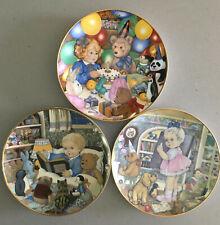 Carol Lawson Collector Plates Franklin Mint Porcelain Set of three