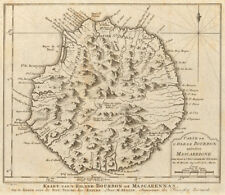 L'Isle de Bourbon, autrefois Mascareigne. Réunion island. BELLIN/SCHLEY 1755 map