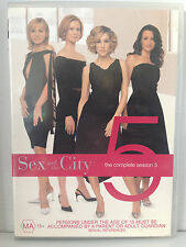 SEX AND THE CITY ~ THE COMPLETE FIFTH SEASON 5 FIVE ~ 2 DVD'S ~ FREE POST