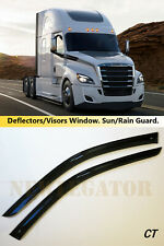 For Freightliner Cascadia 2018- , Windows Visors Deflector Sun Rain Guard Vent