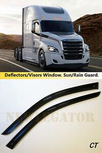 For Freightliner Cascadia 2018- , Windows Visors Deflector Sun Rain Guard Vent