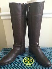 NIB $495 Tory Burch Marlene Leather Riding Boots size 7