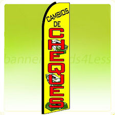 CAMBIOS DE CHEQUES Swooper Flag Feather Flutter Banner Sign 11.5' - yq