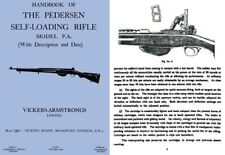 Pedersen c1930 Self-Loading Rifle M-P.A. Handbook- Vickers (UK)