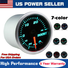 2'' 52mm 12V Car 7 Color LED Turbo Boost Bar Pressure Vacuum Pointer Gauge Meter