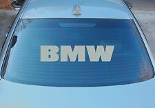 BMW LARGE REAR WINDOW STICKER GRAPHICS 580mm x 125mm CHOICE OF COLOURS