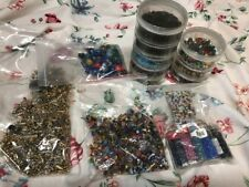 METAL And Beads Jewelry Making Supplies HUGE lot! Fasteners Assorted