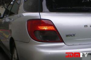 02 03 Impreza Sport Wagon SMOKED Tail Light Overlays Tint Vinyl Precut REVERSE