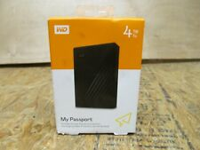 Western Digital My Passport 4TB,External Hard Drive ( LOT 345)