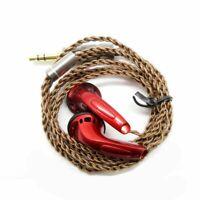 Diy EMX500 In-ear Flat Head Plug Earphone Hifi Bass Earbuds Dj Headphones Bass