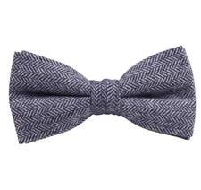 Vintage Gris Tweed Pata de Gallo / Lana ya Atadas Hombre Lazo Corbata Genial