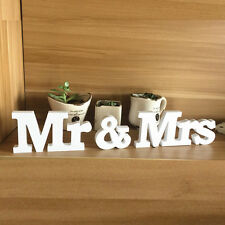Chic Mr & Mrs Wedding Letters White Wooden Mr and Mrs Table Sign Decoration NEW