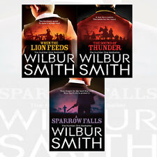 Wilbur Smith Collection The Courtneys Series 3 Books Set NEW Sound of Thunder UK
