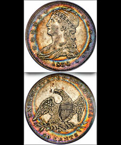 1836 Reeded Edge 50c PCGS XF-40 Jaw-Dropping Eye Appeal!!!