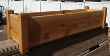 "Cedar Flower Deck Rail Floor Planter 36"" Garden Box Window Box Herb Planter"