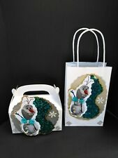 Disney frozen olaf Inspired birthday party gift decorate goody bags or boxes.