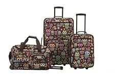 "ROCKLAND 3 PC LUGGAGE SET OWL F165-OWL Luggage 18"" x 11"" x 28"" NEW"